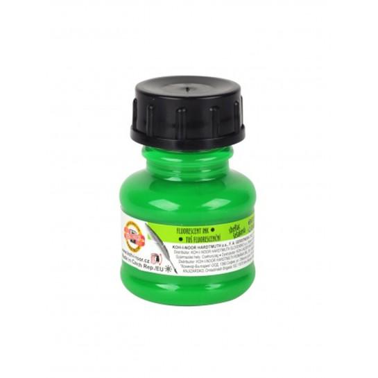 Tušas fluorescens.20ml K-I-N žalias