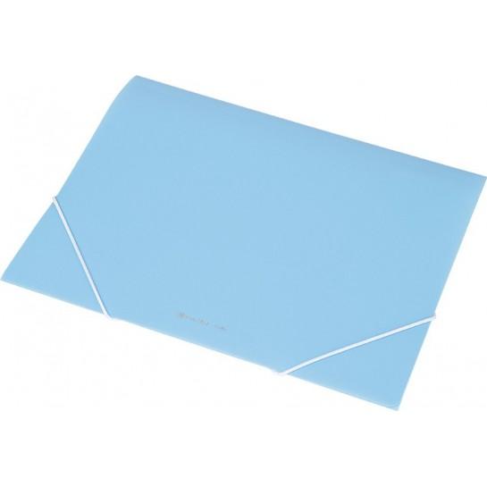 Aplankas su guma A4 mėlynas