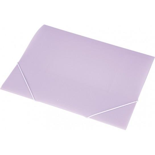 Aplankas su guma A4 violetinis