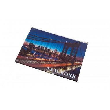 Aplankas su ZIP A4 NEW YORK