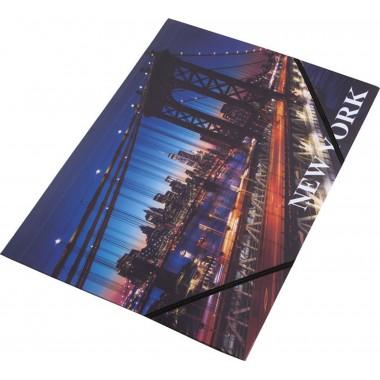 Aplankas su guma A4 NEW YORK0410-0064-38