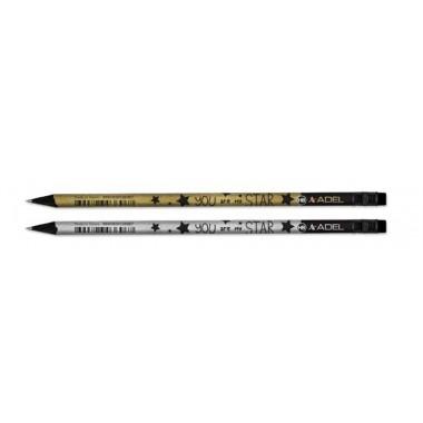 Pieštukas  STAR BLACK LINE su trintuk