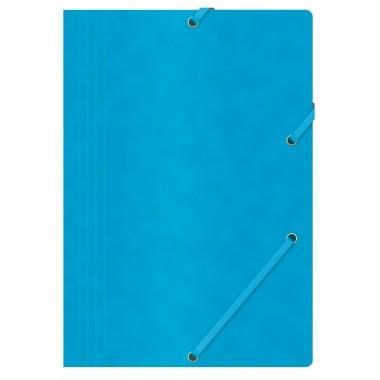 Aplankas su guma, A4, 390gms, mėlynas