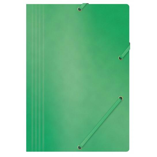 Aplankas su guma, A4, 390gms, žalias