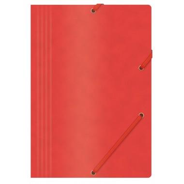 Aplankas su guma, A4, 390gms, raudonas