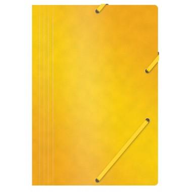 Aplankas su guma, A4, 390gms, geltonas