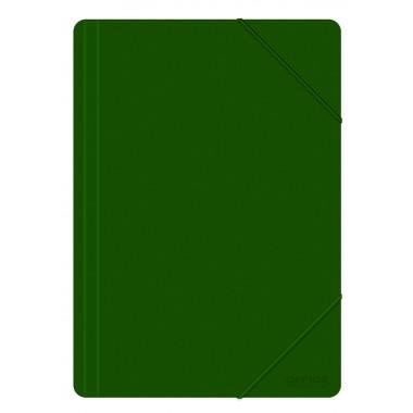 Aplankas su guma PP, A4, 500mic, žalias