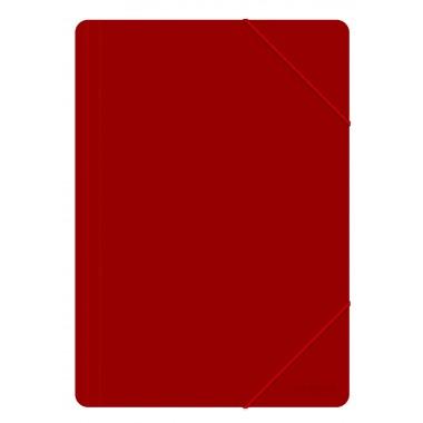 Aplankas su guma PP, A4, 500mic,raudonas