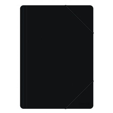 Aplankas su guma PP, A4, 500mic, juodas