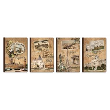 Knyga,B5,112l,80g,lin.,RETRO MEDIA diary