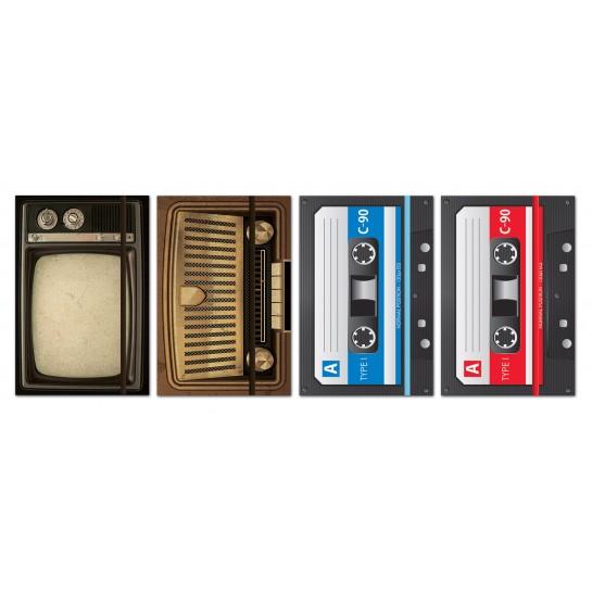 Knygutė su guma, 80l, 70g,linija, AUDIO