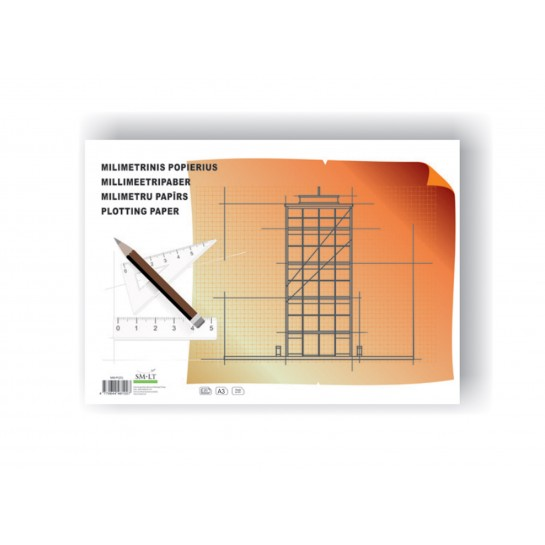 Milimetrinis popierius A3 20l 3MM-P(20)