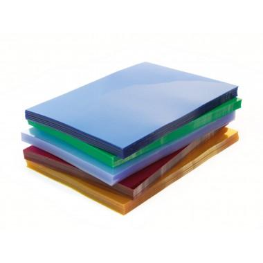 Įrišimo viršeliai PVC skaid.žal.A4 0,2mm