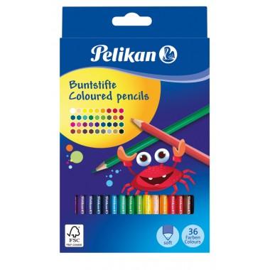 Spalvoti pieštukai 36sp. BS36LN