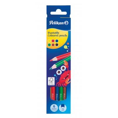 Spalvoti pieštukai 6sp. BS12LN