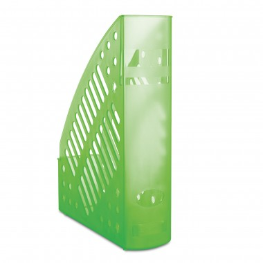 Stovas brošiūroms plastikinis žalsvas