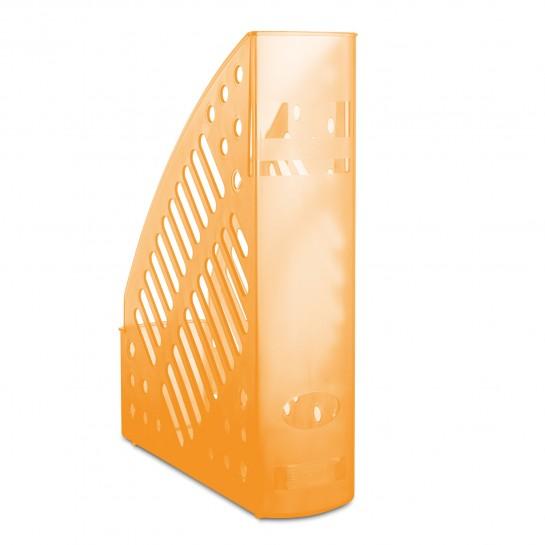 Stovas brošiūroms plastikinis oranž.