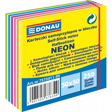 Lipnūs lapeliai 50x50/250, neon-pastel