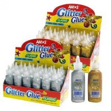 Klijai GLITTER 22ml AMOS