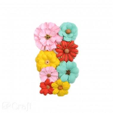Popierinės gėlės LITTLE ME, 8vnt.