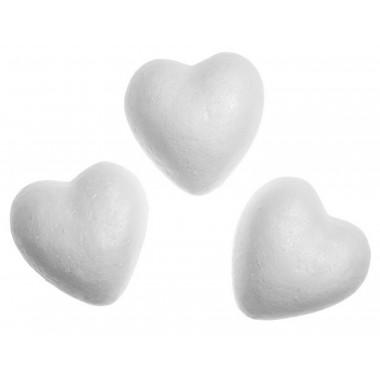 Širdelės iš putų polistirolo 60mm-12vnt