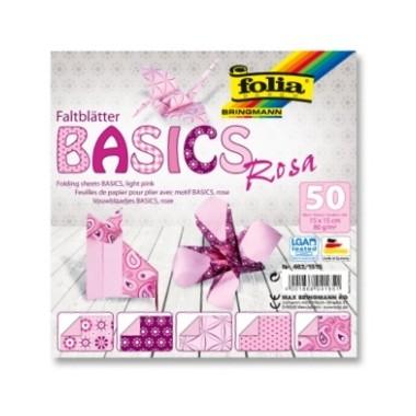 Origami 15x15/50l Folia 5 rož.motyvai