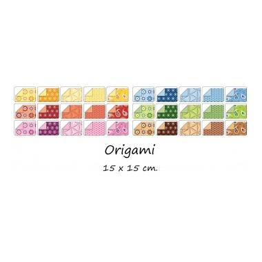 Origami 15x15/50l Folia 5 žali motyvai