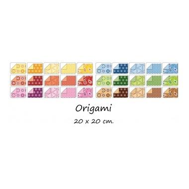 Origami 20x20/50l Folia rudi motyvai