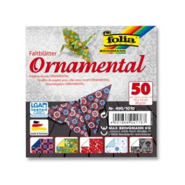 Origami 10x10/50l Folia Ornamentas