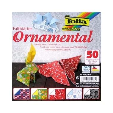 Origami 15x15/50l Folia Ornamentas