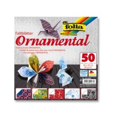 Origami 20x20/50l Folia Ornamentas