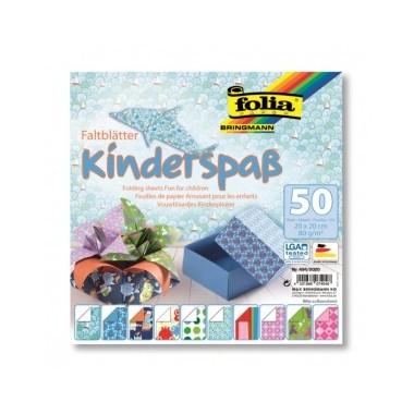 Origami 20x20/50l Folia Fun for children
