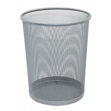 Metalinė šiukšliadėžė 19l, sidabrinė