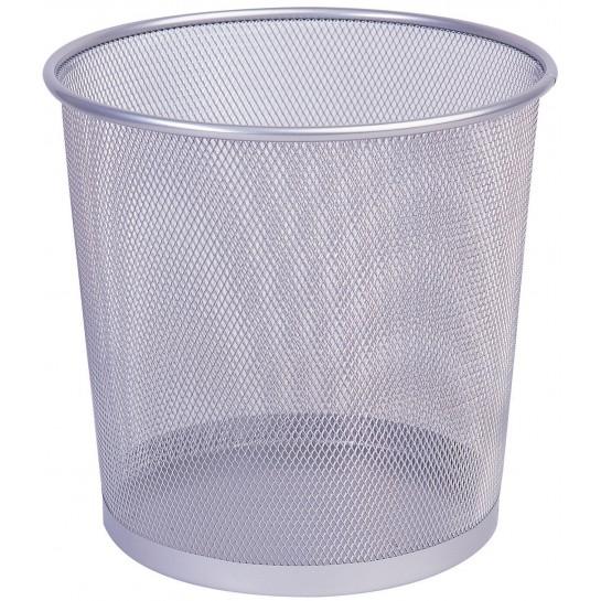 Metalinė šiukšliadėžė 12l, sidabrinė