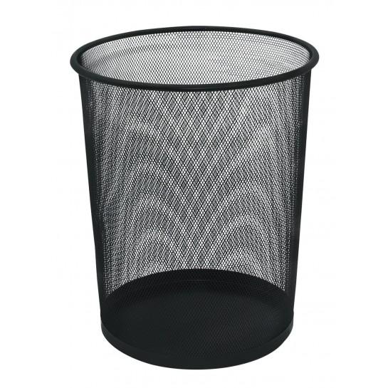 Metalinė šiukšliadėžė 19l, juoda
