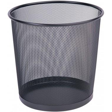Metalinė šiukšliadėžė 12l, juoda