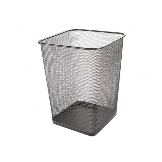 Metalinė, kvadr.šiukšliadėžė 18l, juoda