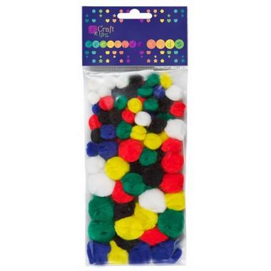 Akriliniai spalvoti burbuliukai 78vnt.
