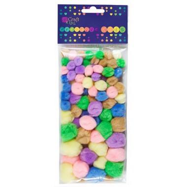 Akriliniai pastelinių sp.burbuliukai 78v