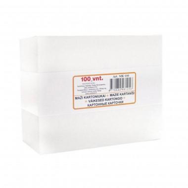 Kartoninės kortelės 70x90 baltos MK-100