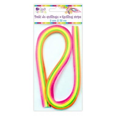 Juostelės kvilingui,3mm,100vnt.,neon