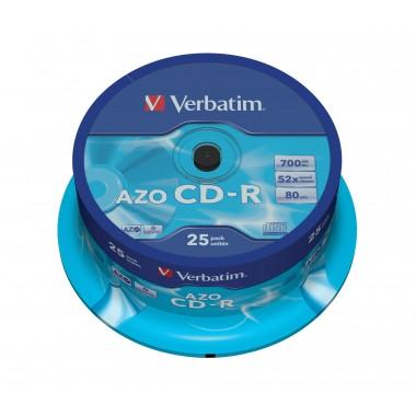 CD-R 700MB 52x Crystal SuperAzo 25vnt.