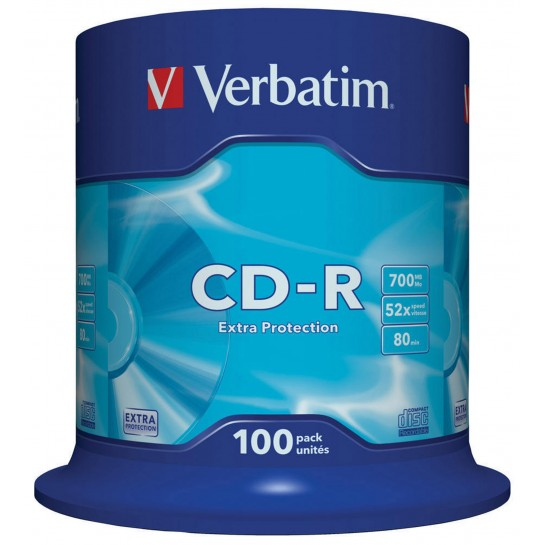 CD-R 700MB 52x Extraprotection 100vnt.