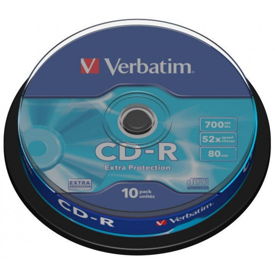 CD-R 700MB 52x Extraprotection 10vnt.