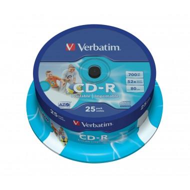 CD-R 700MB 52x Printable  25vnt.