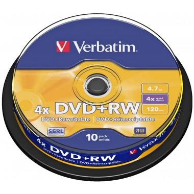 DVD+RW 4,7GB 4x Matte Silver 10vnt.