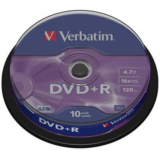 DVD+R 4,7GB 16x Matte Silver 10vnt.