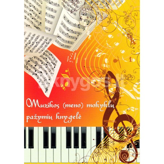 Pažymių knygelė muzikos(meno) mokykl.