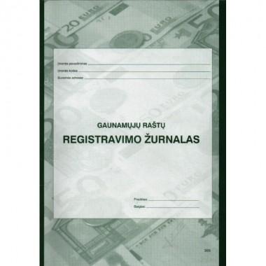 Gaunamų dokum.registr.žurnalas A4/40