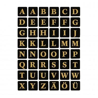 Lipn.etiketės raidės A-Z 13x13 4130
